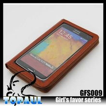 hot sale pu leather compatible brand woman wallet case for samsung s6
