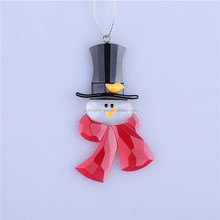 2015 new style christmas decoration snowman head with winter scarf ornament 01401033
