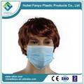 3-ply del filtro de aire quirúrgica no- tejido de máscara de la cara