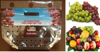 food grade stand up grape packaging bag with air holes and top ziplock
