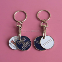 Promotional Canada token coin keychain/keyring for shopping cart