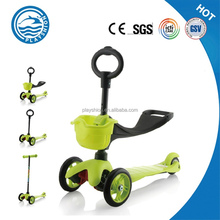 kids 3 in 1 mini micro scooter/kick n go scooter with led wheels