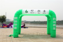 Large Inflatable Green and White Tent for Advertising