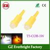 New heat-resisting ceramic led 12v auto led light T5 1w led, T5 auto led light car led tail light