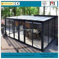 Customized Aluminum Winter Garden,Garden Flat Roof Glass House 3198