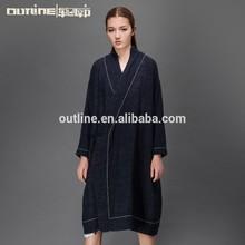2015 de diseño de moda larga blusa casual para mujer de grasa