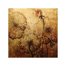 Decorative Hand Painted Lotus Flower Oil Panting on Canvas