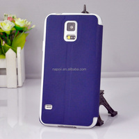 Cheap PU Leather Case With Window for Samsung Galaxy S5