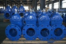 DN350mm stem Rising Gate Valve large diameter double flange resilient seated gate valve