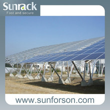 Anodized aluminum solar panel mounting frames for carport system
