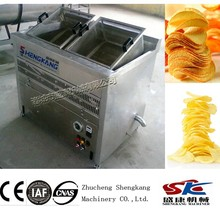 SKD potato chips semi-automatic electric heating frying machine manufacturing company