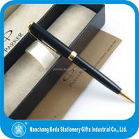luxury ball pen as gift,Black Gold Metal Parker Brand Ballpoint pen with logo