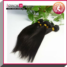 2014 Hot selling 5a unprocessed silky straight wave sticker hair extensions