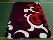 100% polyester 2 ply raschel double blanket with korea style