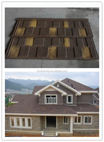 Villa fashion metal stone coated roof tile/Professional manufacturer of the stone coated metal roofing