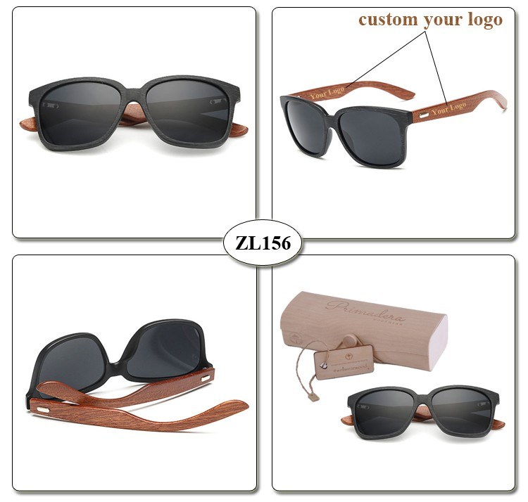 [wholesale] ZL156 Custom Your  Logo Walnut Wooden Temple uv400 Mirror Sunglasses (6)