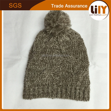 2015 custom new design hats jacquard plain colour knitted hats children winter outdoor warm hat