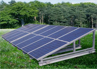 solar cell panels accesories/modules of 250w each for a total capacity of 300kw