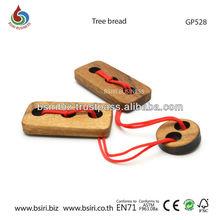 Wooden brain teaser Tree bread