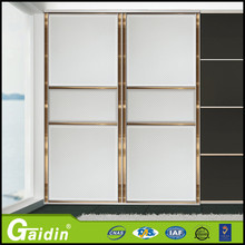 Auto machine made ckd full height double open sliding door cabinet metal office furniture with adjustable height 4 shelves
