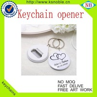 Novelty design and high quality Hot selling keychain opener