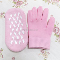 2016 multicolor hot selling japanese foot mask foot hand mask cotton gel socks for lady