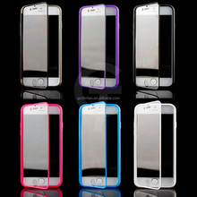 Ultra Slim Touchable Wrap Up Soft Full Protector Flip Transparent TPU Hard Case Cover For iPhone 6