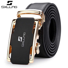 Top Grain Leather Belt with Auto Buckle for Men