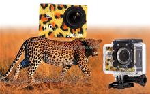 Full HD 1080P@30FPS 720P@60FPS 30 Meters Waterproof Sport Action Camera SJCAM SJ4000 Leopard Print with 1.5INCH LCD Display