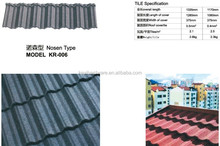 Nosen type concrete stone coated metal roof tiles