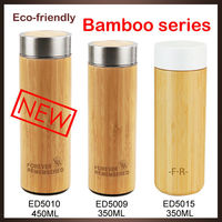 Wholesales eco-friendly custom bamboo wooden drinking bottle with sealed lid
