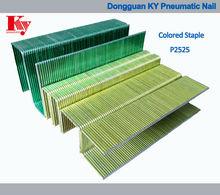 16 calibre coloridas industrial fio galvanizado do ferro série p mobiliário decorativo p2525 grampo