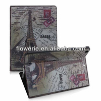 FL3273 2013 Guangzhou hot selling retro classic paris eiffel tower flip leather case for ipad air 5