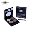 Professional waterproof eyebrow makeup mineral 4 colors eyebrow kit with brush,tweezer and card