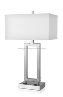 best selling modern power outlet hotel table lamps with fabric shade