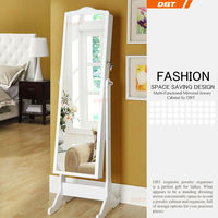 2014 latest china dressing mirror cabinet with jewelry storage