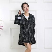 new style fashion spot rain coat for girl