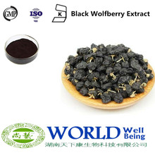 100% Natural Black Wolfberry Goji Berry Extract Powder 25% Anthocyanin Black Wolfberry Extract Anthocyanin