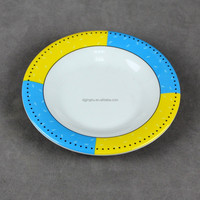 White decals stereo lines melamine plate
