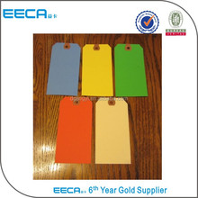 Colorful wholesale hang tag hole punch/paper hang tag printing in China