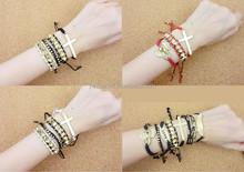 2015 hot sale weave/braided bracelet, Yiwu factory manufacturer charm braided bracelet