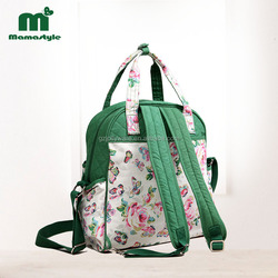 Fashion mamastyle mummy bag with multi inner pockets diaper bag for mommy