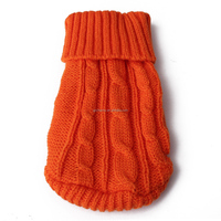 2015 Trendy Pet Dogs Autumn & Winter Body Warm Knitting Sweaters Hot Sale Fashion Solid Puppy Colthes Knitwear 8 Colors