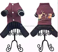 wholesale chinese dog clothing brown peach color cheap dog winter coats