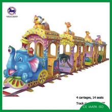 amusement attraction children ride cartoon track train