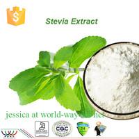 GMP factory supply 100% natural stevia leaf,stevia leaf extract food additive 98% rebaudioside A stevia powder