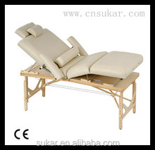 4 Section Wooden Massage Table Luxurious Design