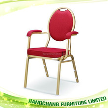 Wholesale Hotel Iron Banquet Chair With Arm