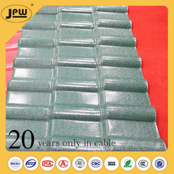 Specifically designed resin tile roof material