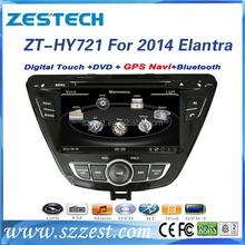 Zestech High Performance double din car stereo for hyundai elantra 2014 with SD card mp3 bluetooth 3G